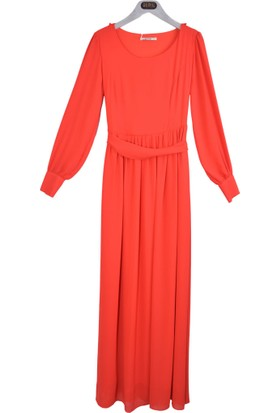 Stillife 8300 Kolyeli Uzun Elbise 17-1