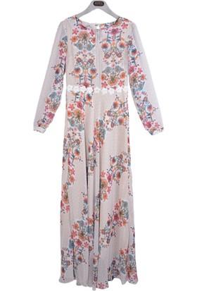 Stillife 8780 Beli Dantel Taşlı Elbise 17-1