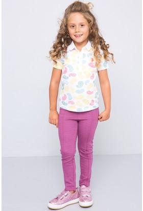 U.S. Polo Assn. Kız Çocuk Vektor T-Shirt Beyaz