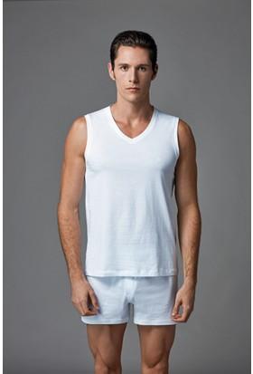Eros Erkek 2'li Penye Atlet Beyaz ES011521
