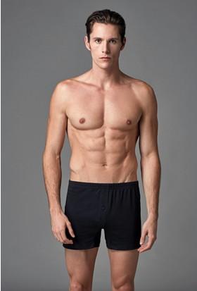 Eros Erkek 2'li Penye Boxer Siyah ES011523