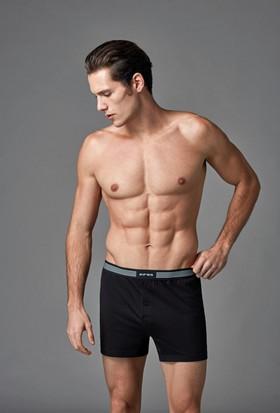 Eros Erkek 2'li Penye Boxer Siyah ES011525
