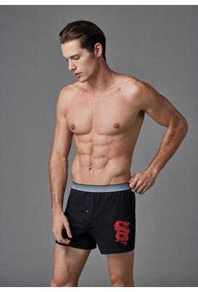 Eros Erkek 2'li Penye Boxer Siyah ES011527