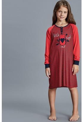 Dagi Kız Çocuk Gecelik Kırmızı K0216K0110