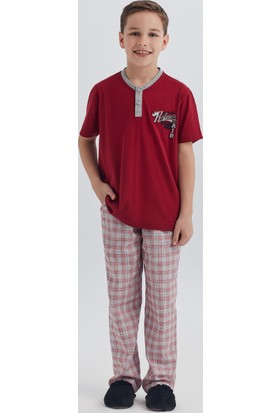 Dagi Erkek Çocuk Pijama Takımı Bordo C0217Y0030