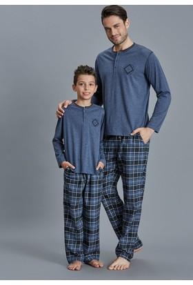 Dagi Erkek Çocuk Pijama Takımı İndigo C0216K0070