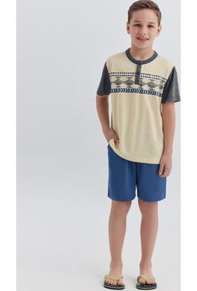 Dagi Erkek Çocuk Pijama Takımı Sarı C0217Y0010