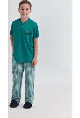 Dagi Erkek Çocuk Pijama Takımı Yeşil C0217Y0050