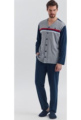Dagi Erkek Pijama Takımı Gri Melanj E0217Y0490