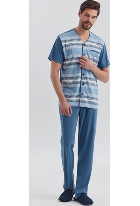 Dagi Erkek Pijama Takımı İndigo E0217Y0280