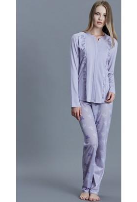 Dagi Kadın Pijama Takımı Lila B0216K0730