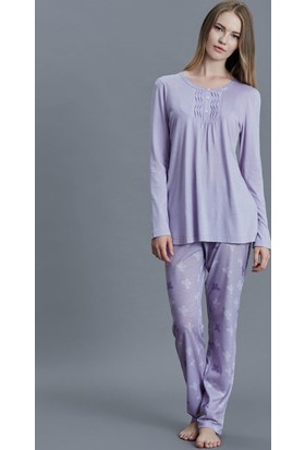 Dagi Kadın Pijama Takımı Lila B0216K0750
