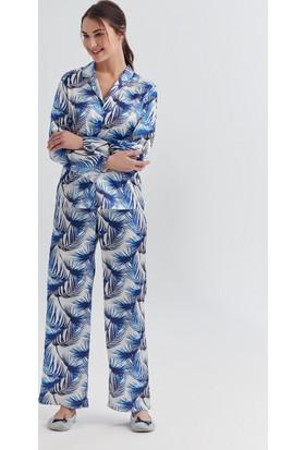 Dagi Kadın Pijama Takımı Saks B0217Y0160