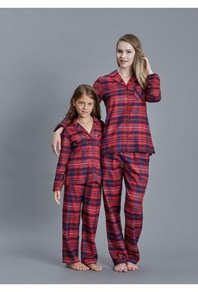 Dagi Kız Çocuk Pijama Takımı Kırmızı K0216K0060