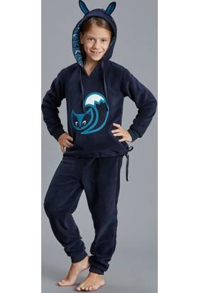 Dagi Kız Çocuk Pijama Takımı Lacivert K0216K0120