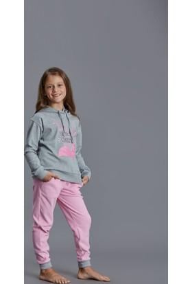 Dagi Kız Çocuk Polar Pijama Takımı Pembe K0216K0200
