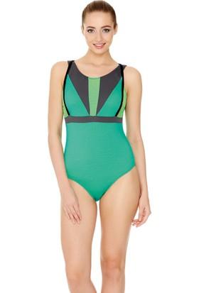 Dagi Kadın Yüzücü Mayo Yeşil B0117Y2150