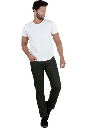 Brango 55104-8 Dar Kalıp Sabin Yeşil Pantolon