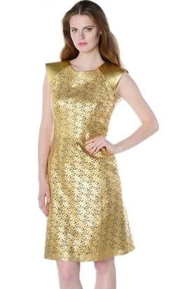 Deriderim Fw 4550 Bayan Elbise Gold