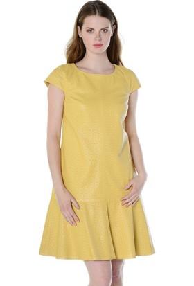 Deriderim Fw 4714 Bayan Elbise Açık Sarı