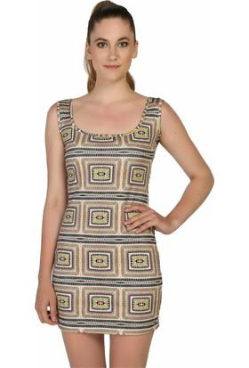 Dm Desenli Mini Elbise