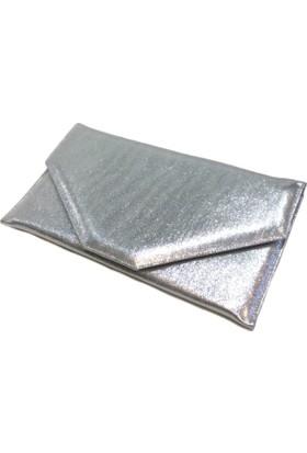 Milles Gümüş Zarf Abiye Çanta