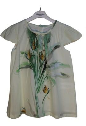 Monna Rosa Çiçek Detaylı Elbise 2 - 6 Yaş