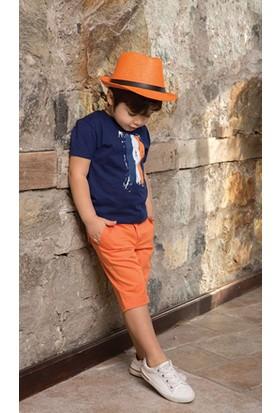 Monna Rosa Asorti Erkek Çocuk Turuncu Şortlu Takım