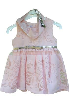 Monna Rosa Pembe Dantelli Çocuk Elbisesi