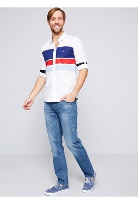 U.S. Polo Assn. Erkek Bloky Gömlek Mavi