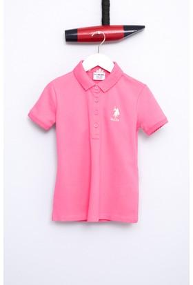 U.S. Polo Assn. Kız Çocuk Tp01İy07 T-Shirt Pembe