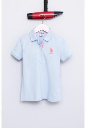 U.S. Polo Assn. Kız Çocuk Tp01İy07 T-Shirt Açık Mavi