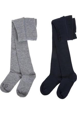 Soobe Kız Çocuk İkili Külotlu Çorap Lacivert (19-34 Numara)