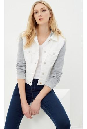 Koton Kadın V Yaka T-Shirt Beyaz