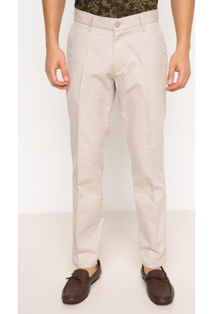 DeFacto Erkek Oxford Regular Chino Pantolon Ekru