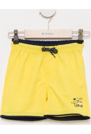 DeFacto Erkek Çocuk Baskılı Yüzme Şortu Sarı