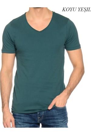 Jack&Jones Erkek V Yaka T.Shirt 12125325 Jorwolf T-Shirt