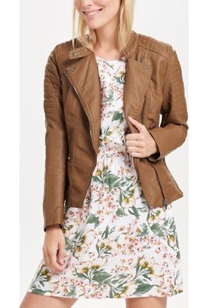 Only Bayan Deri Ceket 15118846 Start Leather Bıker