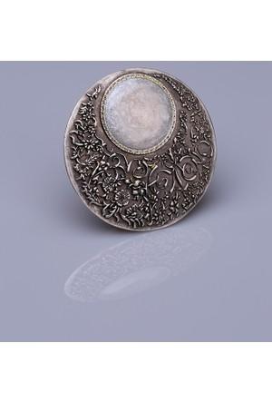 Fsg Takı Sedef Mine Gümüş Kaplama Mıknatıslı Broş