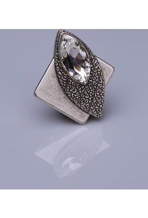 Fsg Takı Kristal Gümüş Kaplama Mıknatıslı Broş