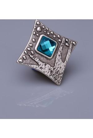 Fsg Takı Buz Mavisi Kristal Gümüş Kaplama Mıknatıslı Broş