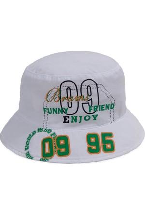 Bay Şapkacı Erkek Çocuk 09 Baskılı Bermuda Şapka