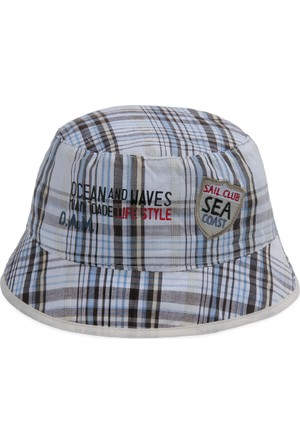 Bay Şapkacı Erkek Çocuk Ekose Bermuda Şapka