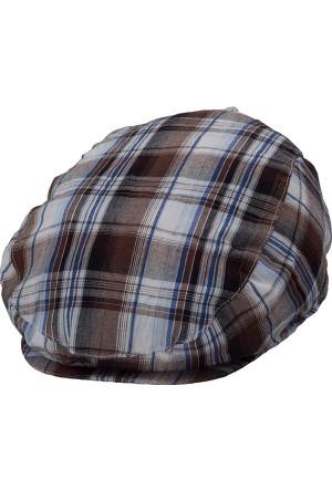 Bay Şapkacı Erkek Çocuk Ekose Kasket