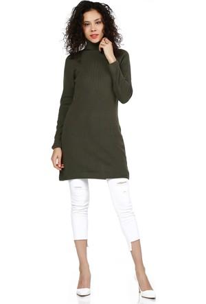 Modarooz Kadın Uzun Elbise Haki 4021