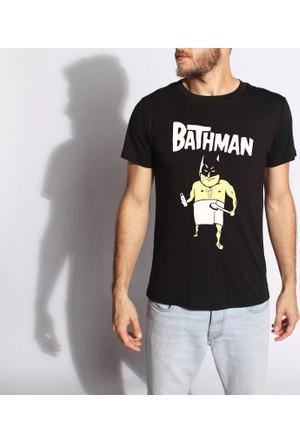 Tshirthane Bathman Siyah T-Shirt