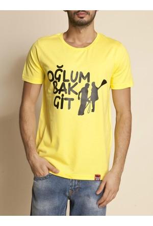 Tshirthane Oğlum Bak Git Sarı T-Shirt