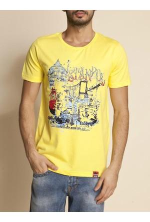 Tshirthane İstanbul Kule Ekru Espirili T-Shirt