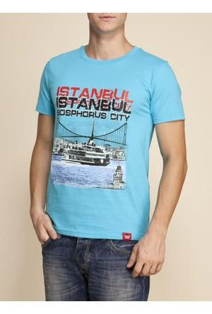 Tshirthane İstanbul Vapur Ekru Espirili T-Shirt