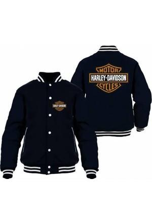 Tshirthane Harley Davidson Siyah Kolej Mont T-Shirt
